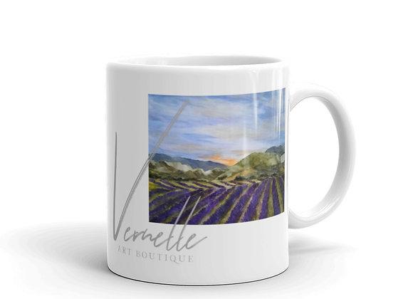 Summertime in Provence White Glossy Mug
