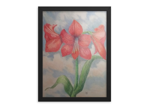 Amaryllis In The Clouds Framed poster