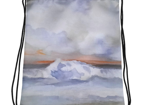 The Pacific Waves Goodbye#1 Drawstring bag