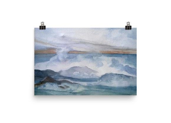 The Pacific Waves Goodbye #3 Digital Print