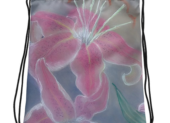 Lilies in The Mist Drawstring bag