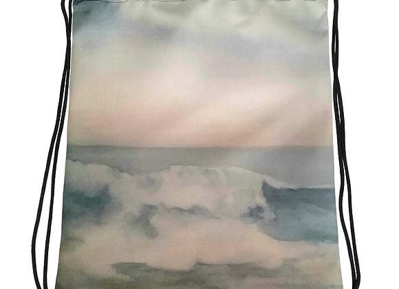 The Pacific Waves Goodbye #2 Drawstring bag