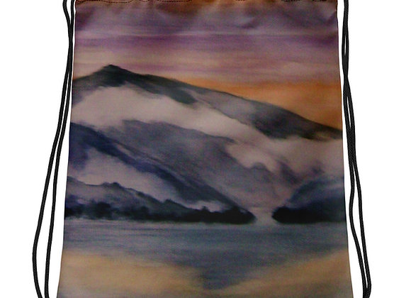 Lake Zug Sunset Drawstring bag