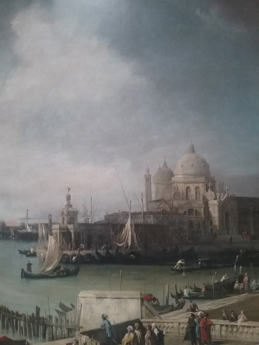 Canaletto painting of the entrance to the Grand Canal of Venice