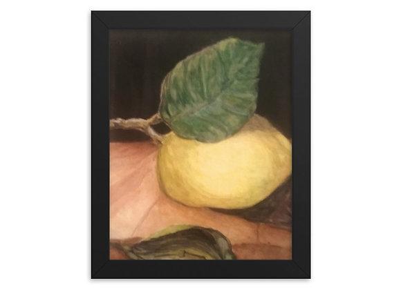 Lemon Framed poster
