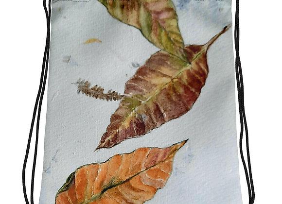Falling Leaves Drawstring bag