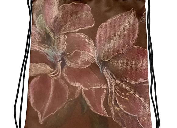 Luminous Amaryllis Drawstring bag