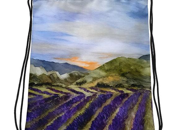 Summertime in Provence Drawstring bag