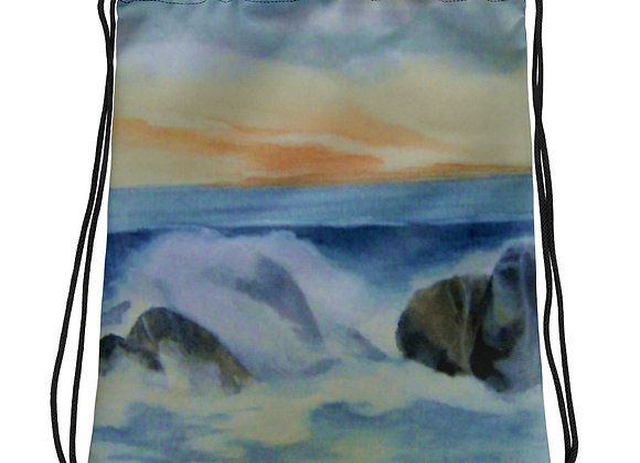 On The Rocks Drawstring bag