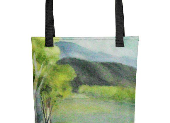 Little Green Trees Tote bag