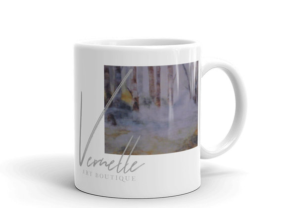 Morning In The Forest White Glossy Mug