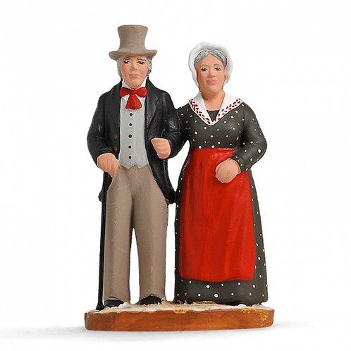 Mr et Mme Jourdan Couleur 7cm