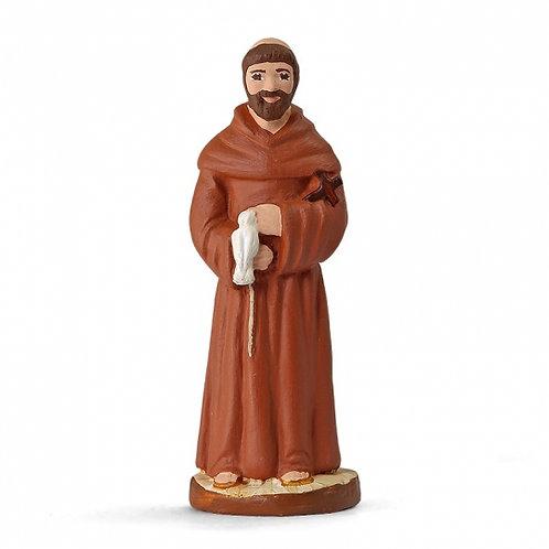 Saint François d'Assise Couleur 7cm
