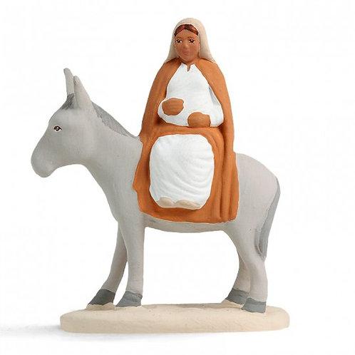 Marie sur l'âne Blanc 7cm