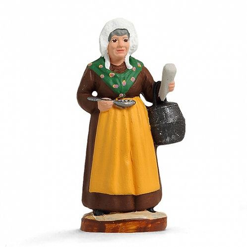 Femme aux Limaçons Couleur 7cm