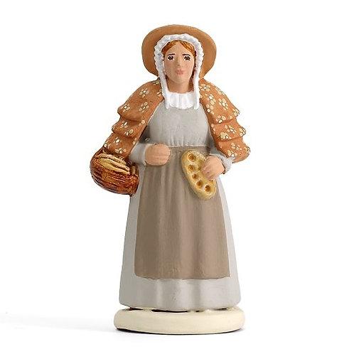 Femme à la Fougasse Blanc 7cm