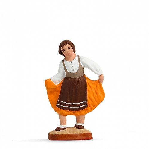 Petite fille qui danse Couleur 7cm