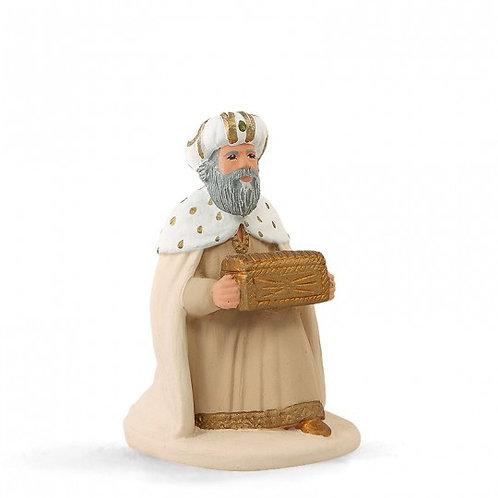 Roi à genoux Blanc 12cm