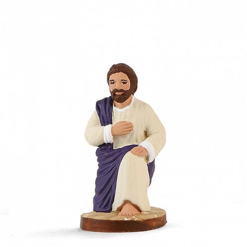 Joseph à genoux Couleur 7cm