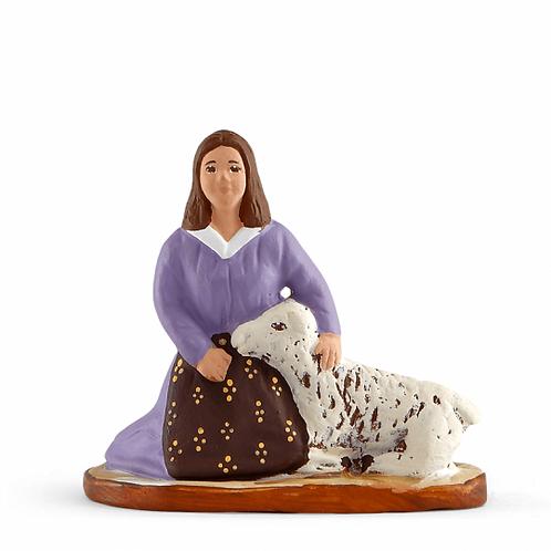 Bergère au Mouton Couleur 7cm