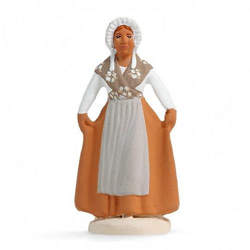 Danseuse Provençale Révérence Blanc 7cm