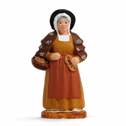 Femme à la Fougasse Couleur 7cm