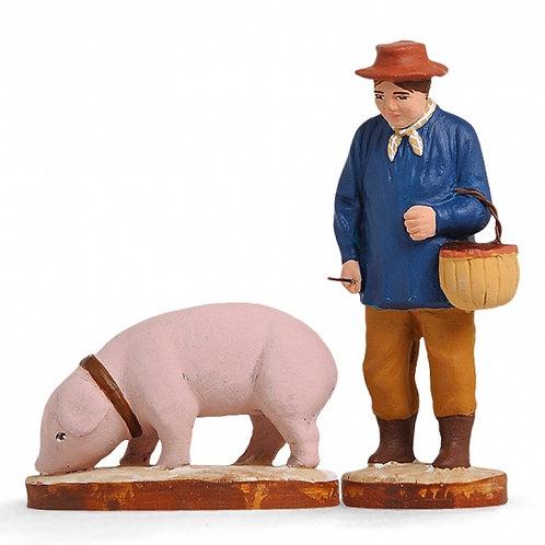 Rabassier et Cochon Couleur 7cm
