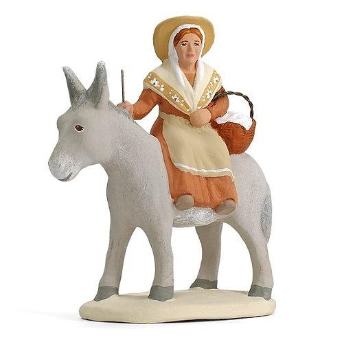 Margarido sur l'âne Blanc 7cm