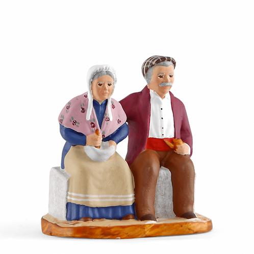 Couple sur le banc Couleur 7cm