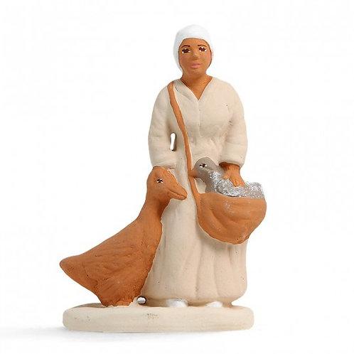 Femme à l'Oie Blanc 7cm