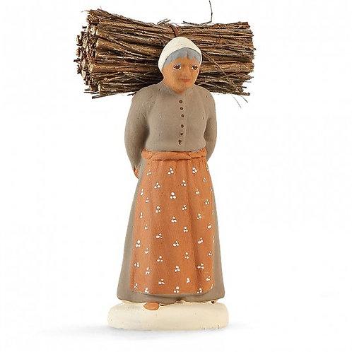 Femme au Fagot Blanc 7cm