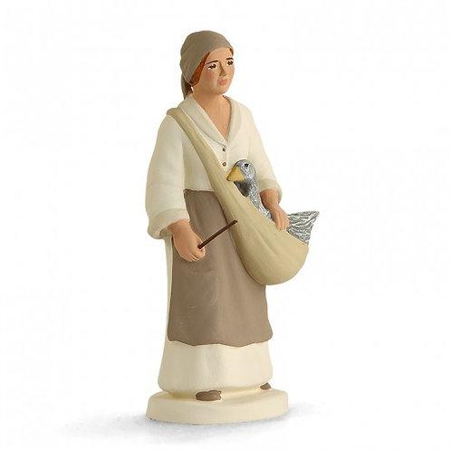Femme à l'Oie Blanc 12cm