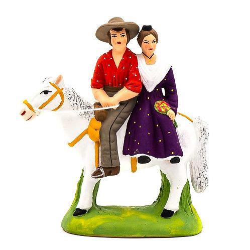 Gardian et arlésienne à cheval N°3