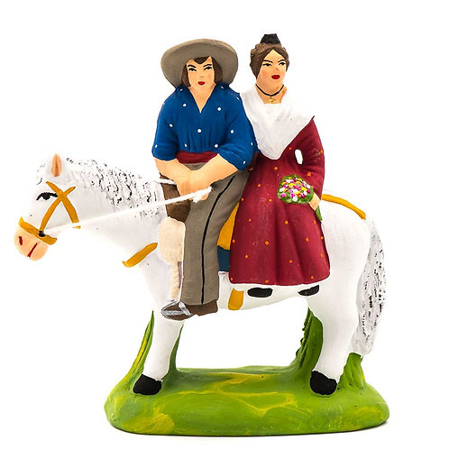 Gardian et arlésienne à cheval N°2