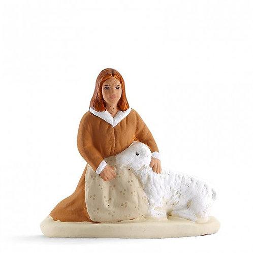 Bergère au Mouton Blanc 7cm