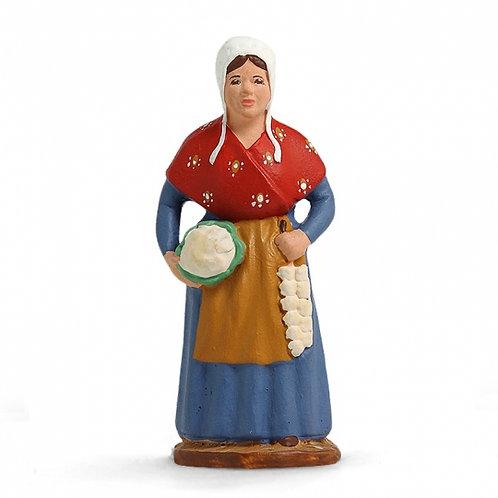 Femme au Chou et à l'ail Couleur 7cm