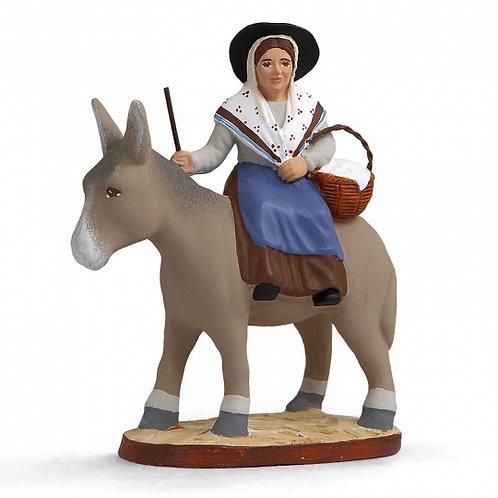 Margarido sur l'âne Couleur 7cm