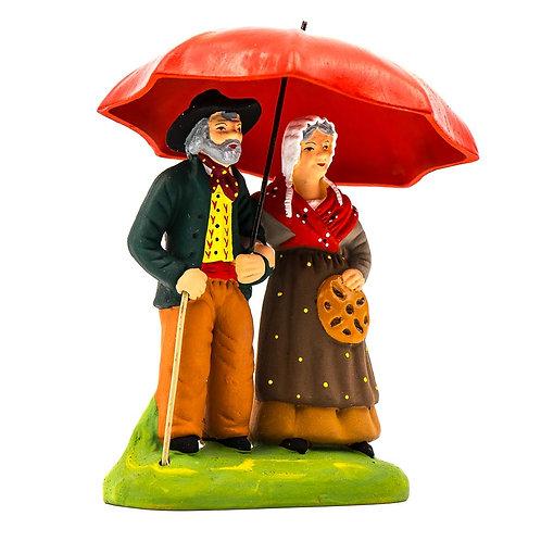 Couple sous le parapluie N°3