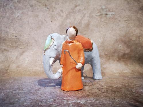 Éléphant et Cornac Onillon