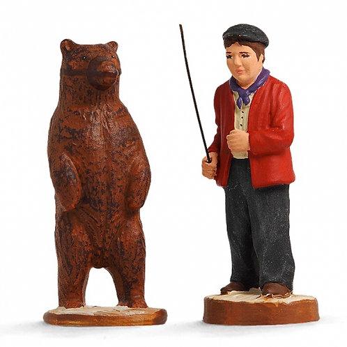 Montreur d'ours avec ours Couleur 7cm