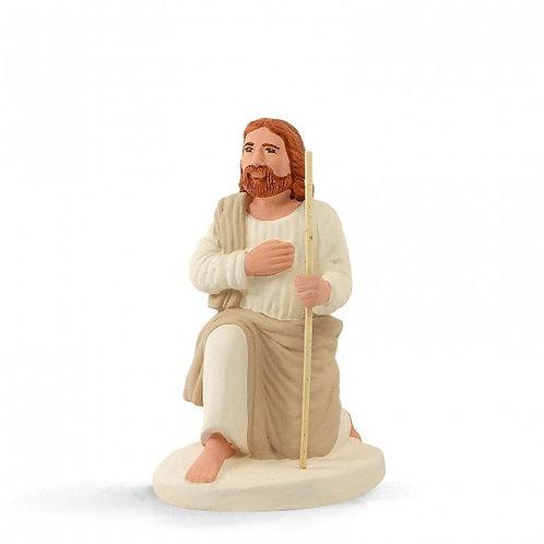 Joseph à genoux Blanc 12cm