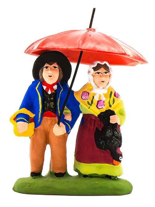 Couple sous le parapluie N°1