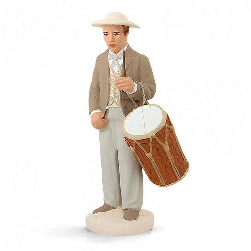 Tambourinaire Blanc 12cm