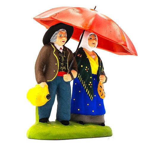 Couple sous le parapluie N°2