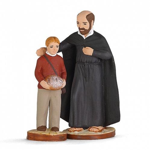 Saint Ignace et l'enfant Couleur 7cm
