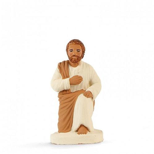 Joseph à genoux Blanc 7cm