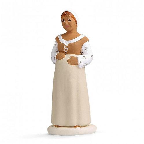 Femme enceinte Blanc 7cm