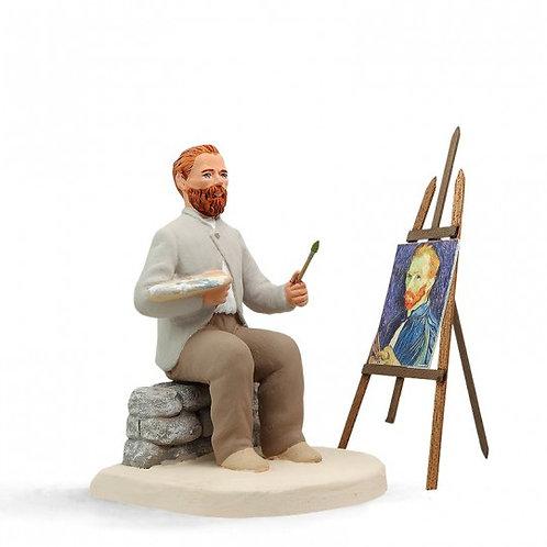 Vincent Van Gogh avec Chevalet Blanc 12cm
