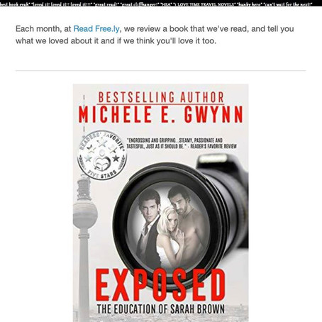Exposed: The Education of Sarah Brown is Read Freely's Book of the Month