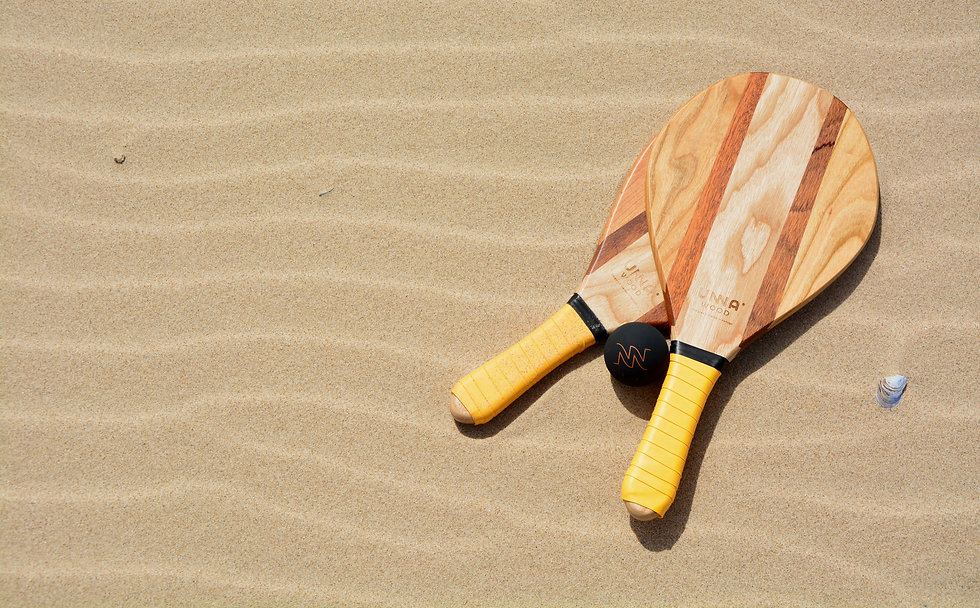 Unna Wood Raquetes de Praia Freixo